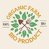 Natürliche eco organische Produktetikett Abzeichen Symbol