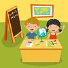 Kids Schule Erdkundeunterricht