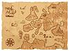 Alte Retro alte Karte antike Geographie