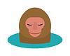 Cartoon-Stil lebendes Säugetier Schimpanse Affenkopf