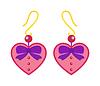 Herz Ohrringe schöne rosa Accessoire