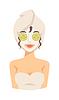 Spa Mädchen Anwendung Gesichts-Maske aus Ton Schönheit Hebe