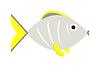 Abstrakt Aquarienfische Unterwasser-Naturtier Symbol