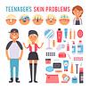 Gesichtspflege Teenager Menschen Defekte Hautprobleme