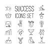 Wirtschaftlicher Erfolg Icons Set