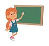 Schulmädchen Klasse Board