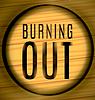 Векторный клипарт: выжигание Текст на дереве в кольце