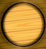 Векторный клипарт: выжженной кольцо деревянная текстура