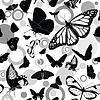 Nahtlose Muster mit Schmetterlingen