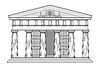 Griechischen dorischen Tempel