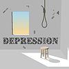 Depression im dunklen Raum
