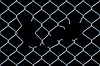 Seamless damaged chain-link fence