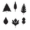 Sammlung von silhouette Blätter