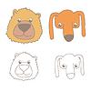 Cartoon Bär und Hund