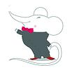 Векторный клипарт: пение мыши