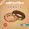 Векторный клипарт: Плакат. Симпатичные пончик