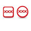 Векторный клипарт: Взрослые знак