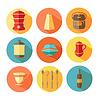 Векторный клипарт: посуда иконки