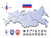 Russlands Landkarte