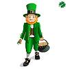 St Patricks Day Leprechaun mit einem Topf voll Gold