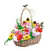 Векторный клипарт: корзина с цветами