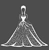 Vektor Cliparts: Hochzeitskleid