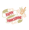 Vektor Cliparts: Happy Thanksgiving kostenlos