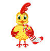 Cheerful Cockerel with Christmas sweets | Stock Vector Graphics