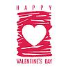 Vektor Cliparts: Happy Valentines Day Card