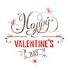 Vektor Cliparts: Happy Valentines Day Vintage-Label