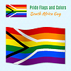 Homosexuell Stolz Flagge von Südafrika mit der richtigen Farbe