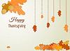 Happy Thanksgiving Grußkarte mit Eichenlaub ein