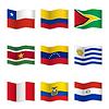Wellenartig bewegende Flaggen der verschiedenen Länder 11