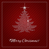 Векторный клипарт: Горный хрусталь Рождество Шаблон