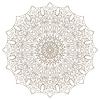 Векторный клипарт: Шаблон с Mandala кружева орнамент