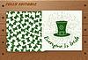 St. Patricks Day-Karte auf Holztisch
