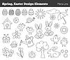 Set von Ostern Design-Elemente
