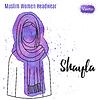 Векторный клипарт: Мусульманин, исламский женский головной убор
