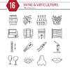Set Weinbereitung, Weinprobe Icons