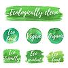 Векторный клипарт: природные органические значок, эко этикетки