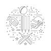 Cricket-Sport-Spiel Grafik-Design-Konzept