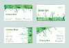 Vektor Cliparts: Set Aquarell Visitenkarten