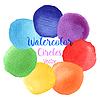 Vektor Cliparts: Regenbogenfarben Aquarell malen Flecken