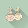 Vektor Cliparts: Thai-Massage und Wellness-Design-Elemente