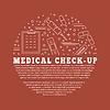 Medizinische Diagnostik, Checkup Grafik-Design-Konzept