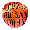 Autumn watercolor banner with hand lettering | Stock Vector Graphics