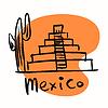 Mexiko-Stadt Maya-Pyramiden