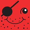Red Smiley einäugiger Pirat