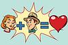 Mann und Frau gleiche Liebe