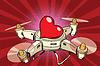 Quadcopter Drohne rotes Herz Valentine Urlaub